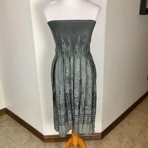 Lapis One Size Pewter Tube Dress